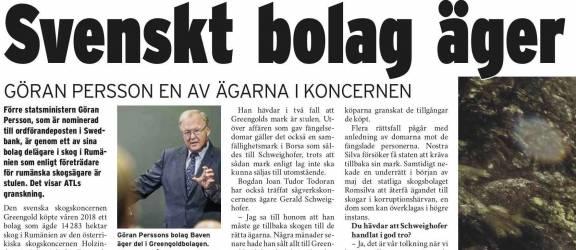PRESA DIN SUEDIA – O companie suedeză deţine păduri româneşti furate!