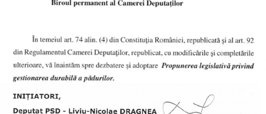 Inutilitatea inițiativei legislative propusă de Liviu Dragnea în domeniul pădurilor