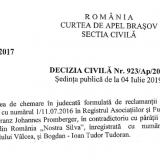 Nostra Silva cȃştigă procesul cu Fundația Conservation Carpathia şi Christoph Promberger