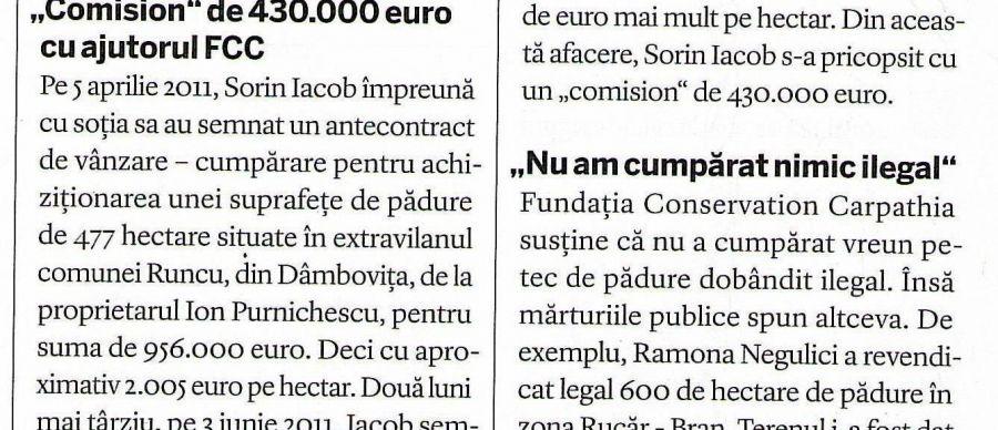 Newsweek: Uscăturile din încrengăturile Conservation Carpathia